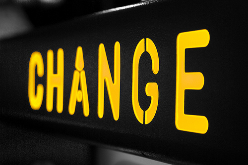 Change - Photo by David Reece - Flickr