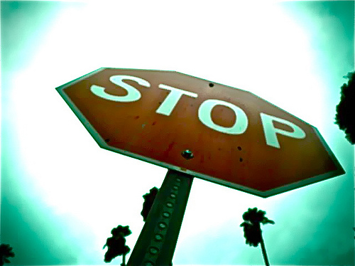 Stop Sign - photo by purpleapple428 on Flickr