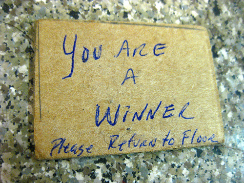 You Are A Winner (Photo by Elisfanclub, Flickr, CC BY-SA 2.0)