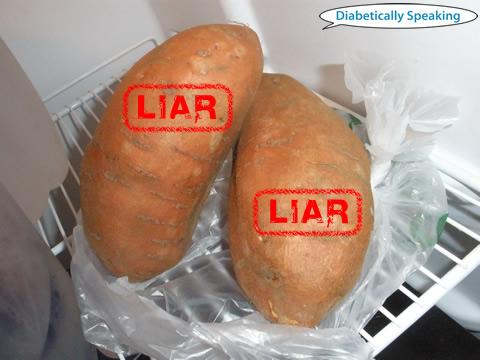 Lying Sweet Potatoes