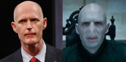 Rick Scott Lord Voldemort Lookalike